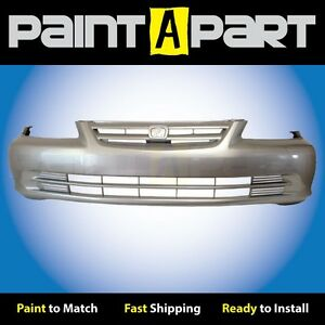 2001 2002 Honda Accord Sedan Front Bumper Painted Nh623m Satin Silver Metallic