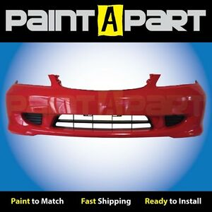 Fits 2004 2005 Honda Civic Coupe Front Bumper Painted R513 Rallye Red