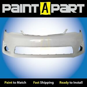 2012 2013 2014 Toyota Camry Front Bumper Cover Painted 040 Super White