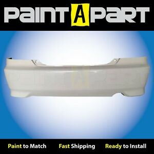 Fits 2004 2005 Honda Civic Coupe Rear Bumper Painted Nh578 Taffeta White
