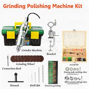 Jade Wood Manual Grinder 220v Variable Speed Mini Grinding Polishing Machine Set