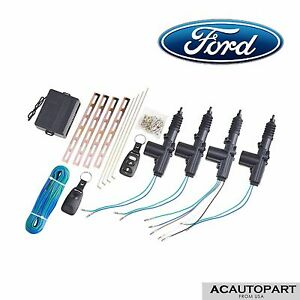 4 Door Power Central Lock Kit With 2 Keyless Entry Car Remote Control Fit Ford
