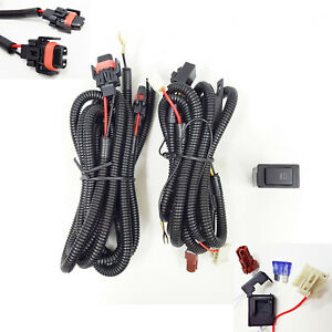 H11 H8 H9 12v 30a Fog Light Wiring Harness Relay Kit On Off Switch 2 Plugs Wire