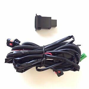 9006 12v 30a Fog Light Wiring Harness Relay Kit On Off Led Switch 2 Plugs Wire
