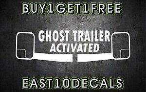 Ghost Trailer Activated Decal Sticker Bumper Sticker Diesel Duramax 1500 Ford