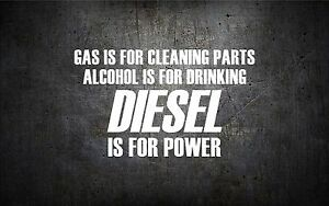 Diesel Is For Power 5 Vinyl Car Sticker Decal L Buy 1 Get 1 Free Duramax