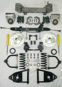 1949 1954 Chevy Mustang Ii Bolt On Power Front End Suspension Kit Ifs 2 Drop