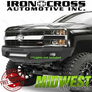 Iron Cross Low Profile Front Bumper Fits 2007 2010 Chevy Silverado 2500 3500 Hd