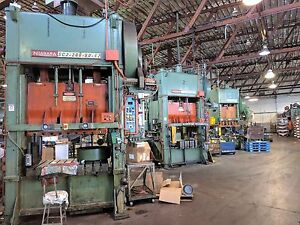 200 Ton Capacity Niagara Straight Side Press For Sale 2 Available