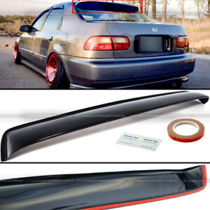 For 92 95 Civic 4dr Sedan Rear Window Roof Sun Rain Shade Vent Visor Spoiler
