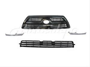 For 2008 2009 4runner Grille Black Front Bumper Filler Lower Grille 4pcs