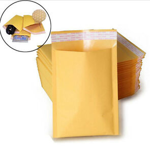 Wholesale 10 20 50 100pcs Kraft Bubble Mailers Padded Paper Envelopes Bag