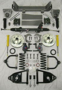 1953 1956 Ford F100 Mustang Ii Power Front End Suspension Kit Ifs 2 Drop