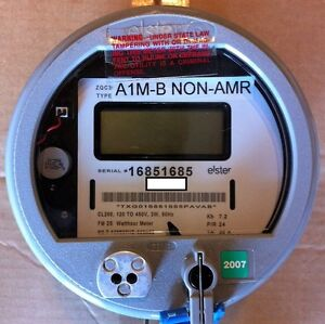 Elster Watthour Meter Kwh A1rl Fm2s 200a 120v 480v Zero Reset