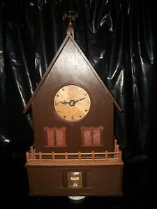 Exclusive Hand Made Artisan Clock Intricate Detailed Mechanisms Very Rare