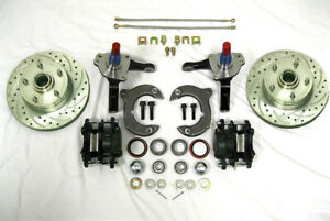 Mustang Ii Front Disc Brake Kit 11 Plain Rotors Ford Stock Spindles Ss Lines