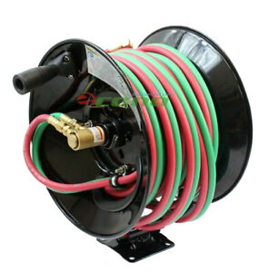 Manual 50ft Twin Oxy Acetylene Welding Hose Reel 300psi 50 Twin Welding Hoses