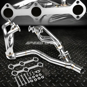 For 93 95 Camaro firebird V6 3 4l Stainless Steel 6 2 1 Mid Length Header y pipe