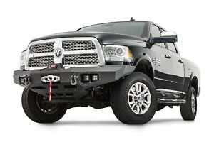 Warn Black Winch Ready Ascent Front Bumper For 2011 2018 Ram 2500 3500 4wd
