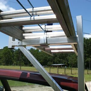 Aluminum 250 Contractor Pickup Truck Ladder Lumber Rack Side Mount