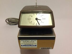 Fully Functional Amano 4746 Automatic Date And Time Stamp With Key Included