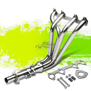 Metallic 4 1 Long Tube Exhaust Manifold Header For 75 84 Vw Rabbit scirocco