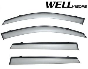 Wellvisors Side Window Deflectors Visors W black Trim For Kia Sorento 2011 2015