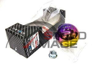 Nrg Ball Round Neo Chrome Weighted Shift Knob 10x1 5mm Civic Integra Eg Ek