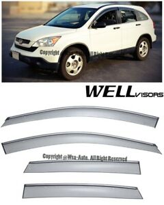 Wellvisors Side Window Visors W Chrome Trim Rain Guard Honda Crv 2007 2011