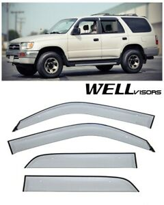 Wellvisors Side Window Visors Premium Series Toyota 4runner 1996 2002