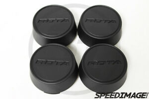 Rota Wheels Moda Flat Black Replacement Wheel Center Caps Gt3 Grid V Track R