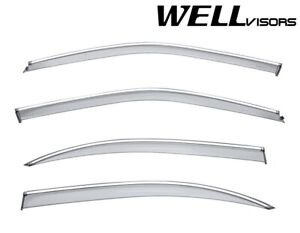 Wellvisors Side Window Visors Chrome Trim For Nissan Maxima Sedan 2000 2003