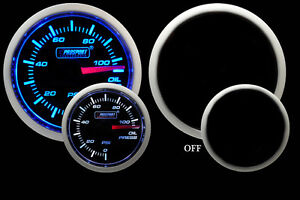 Oil Pressure Gauge Electrical Blue White 52mm 2 1 16 Inc Sender Prosport