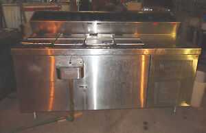Vintage Ice Cream Dipping Freezer Cabinet Fountain Syrup Rail Stainless Randell