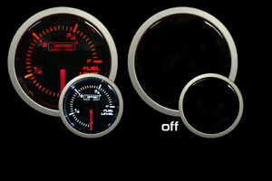 Prosport Gauges Performance Series Amber White Fuel Level Guage 52mm 2 1 16