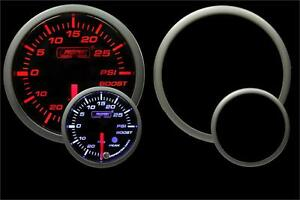 Premium 60mm Electric Boost Gauge Amber White W Peak Warning Prosport
