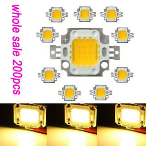 Wholesale 200pcs 10w High Power Warm White Led Lamp Light Smd Bulb Chips Diy