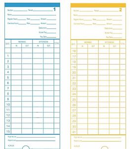 500 Count Form 42426 Time Cards For Pyramid Model 2400