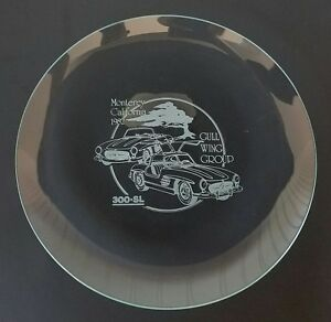1982 Mercedes 300 Sl Gull Wing Group Collectors Plate Glass Amg Pebble Concourse