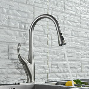 Single Handle Kitchen Faucet Commercial Pre rinse Oil Rubbed Bronze High Arch Us