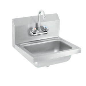 Vollrath K1410 c Wall mounted 17 w Hand Sink W Gooseneck Faucet