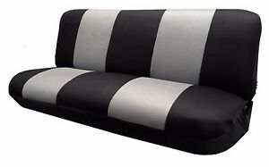 Mesh Black gray Full Size Bench Seat Cover Fits Most Vintage Classic Cars