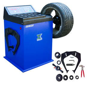 Upgrade Wheel Balancer Tire Balancers Machine Rim Car Heavy Duty 680