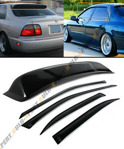 94 97 5th Honda Accord 4dr Sedan Smoke Rear Roof Window Side Door Visor Combo