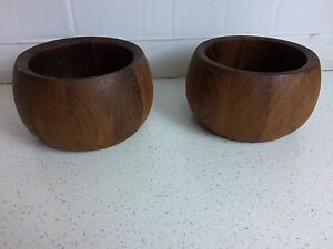 Pair Of 2 Dansk Teak 6 Salad Bowls
