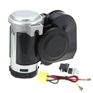 12v 136db Car Snail Dual Tone Loud Compact Air Horn Truck Lorry Yacht Motorcycle