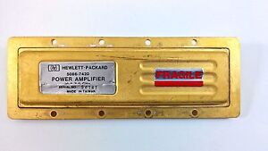 Hewlett Packard Hp 5086 7420 Microwave Rf Power Amplifier S n 54141 Gold Plated