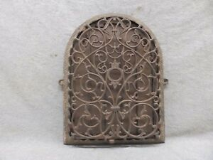 Antique Cast Iron Arch Top Dome Heat Grate Wall Register Victorian 12x9 49 17p