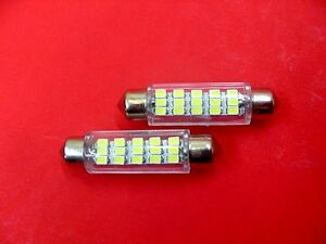 2 Super White Interior Courtesy Dome Leds Lights 1965 1995 Buick Caddy Olds Gmc