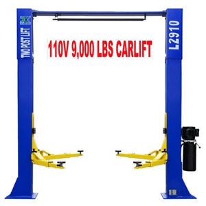 A 9 000 Lb L2910 2 Post Lift Car Auto Truck Over Head Hoist Free Shipping 110v
